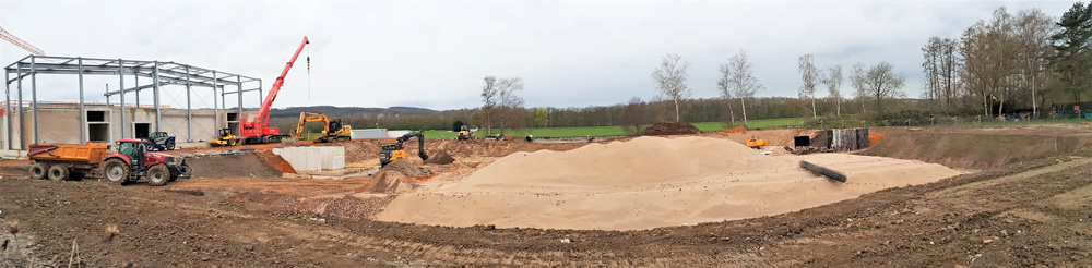 Panorama Baustelle Ruhrufer